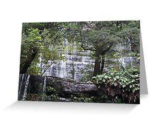 Crocodile Waterfall- Mt Field Tasmania Greeting Card