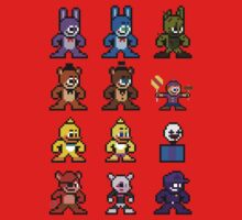 8-bit Five Nights at Freddy's Baby Tee