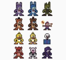 8-bit Five Nights at Freddy's Kids Tee