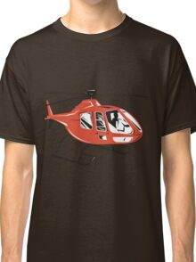 Helicopter Chopper Retro  Classic T-Shirt