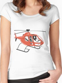 Helicopter Chopper Retro  Women's Fitted Scoop T-Shirt