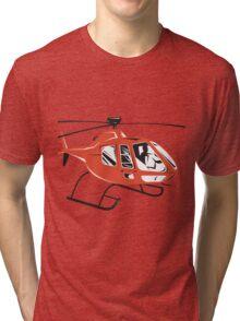 Helicopter Chopper Retro  Tri-blend T-Shirt