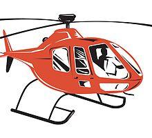 Helicopter Chopper Retro  by patrimonio