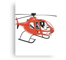 Helicopter Chopper Retro  Canvas Print
