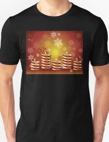 Candle and Snowflakes T-Shirt