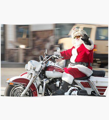 Santa's New Sleigh Poster