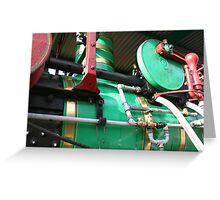 Detail- Steam Traction Engine, Steamfest, Sheffield Tasmania  Greeting Card