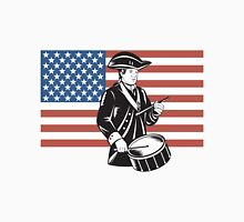 American Patriot Drummer Stars and Stripes Flag  Unisex T-Shirt