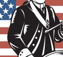 American Patriot Drummer Stars and Stripes Flag  Sticker