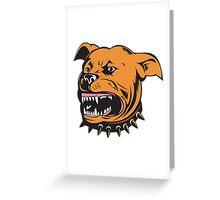 Angry Mongrel Dog  Greeting Card