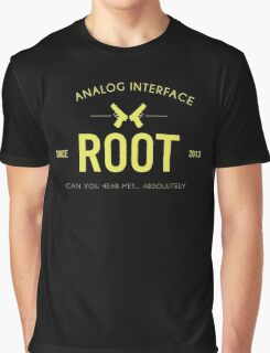 Person of Interest - Root - Black Graphic T-Shirt