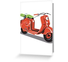Vintage Motor Scooter Retro  Greeting Card