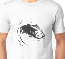 sea bass jumping retro  Unisex T-Shirt