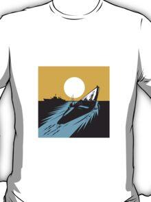 Submarine Boat Retro  T-Shirt
