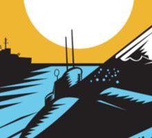 Submarine Boat Retro  Sticker