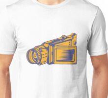 Video Camera Recorder Woodcut  Unisex T-Shirt