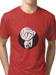 Volleyball Player Hitting Ball  Tri-blend T-Shirt