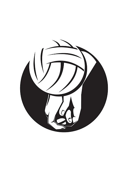 Volleyball Player Hitting Ball  by patrimonio
