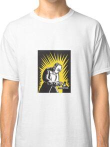Welder Metal Worker Welding Retro   Classic T-Shirt