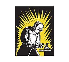 Welder Metal Worker Welding Retro   by patrimonio
