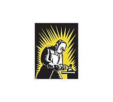 Welder Metal Worker Welding Retro   Photographic Print