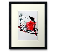 Mostly Red on something Framed Print