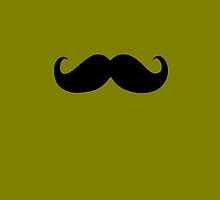 Funny Black Mustache 7 by Nhan Ngo