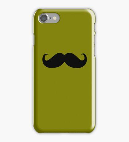 Funny Black Mustache 7 iPhone Case/Skin
