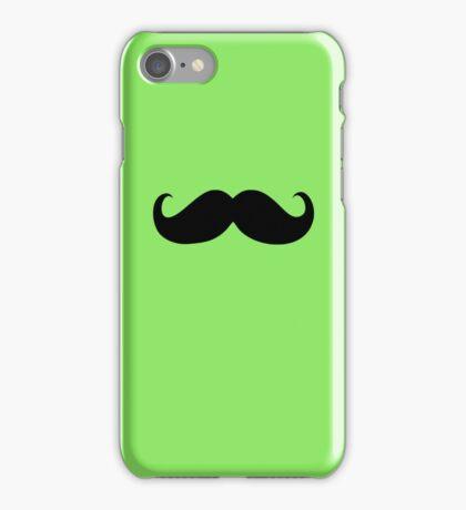 Funny Black Mustache 8 iPhone Case/Skin