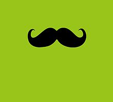Funny Black Mustache 16 by Nhan Ngo