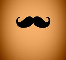 Funny Black Mustache 20 by Nhan Ngo