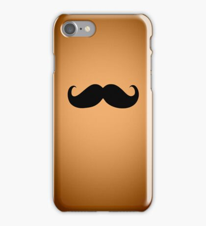 Funny Black Mustache 20 iPhone Case/Skin