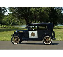 1929 Ford Model A Sheriff's Car Photographic Print