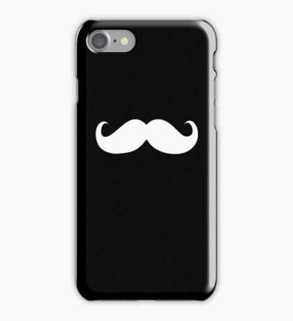 Funny white mustache iPhone Case/Skin