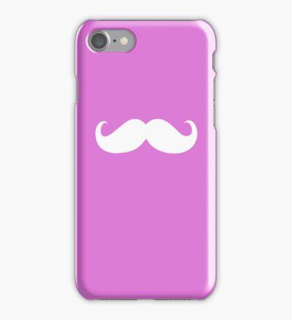 Funny white mustache 8 iPhone Case/Skin