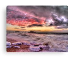 Worthing Beach Sunrise 1 - Boxing Day 2012 - HDR Canvas Print