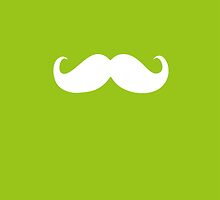 Funny white mustache 10 by Nhan Ngo