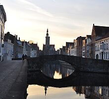 Romantic Walk Bruges by Gary  Collins