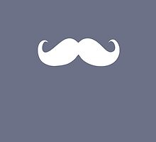 Funny white mustache 13 by Nhan Ngo