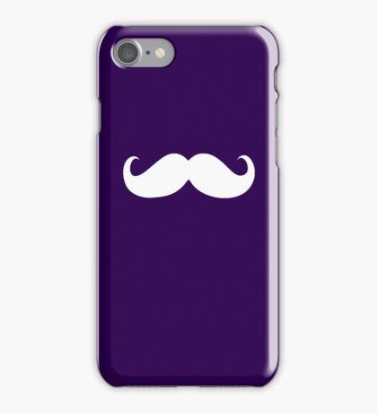 Funny white mustache 14 iPhone Case/Skin