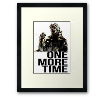 Metal Gear Solid - One More Time Framed Print