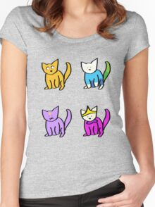 Adventure Time Kitties! (No text) Women's Fitted Scoop T-Shirt