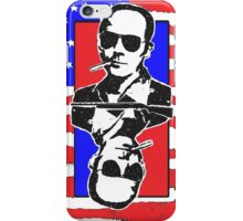 Hunter.S.Thompson. The Playing Card. iPhone Case/Skin