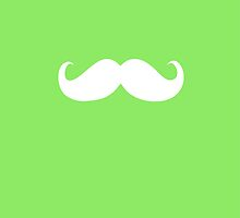 Funny white mustache 19 by Nhan Ngo