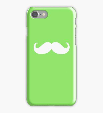 Funny white mustache 19 iPhone Case/Skin