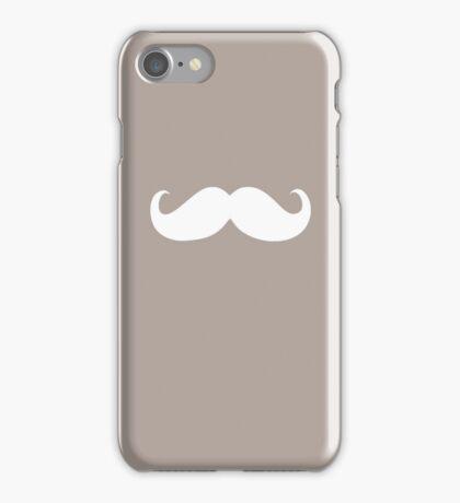 Funny white mustache 20 iPhone Case/Skin