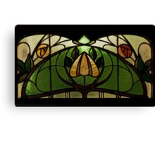 Flowers on the window Canvas Print