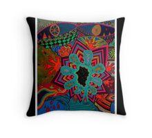 Creativity Black Ligth Throw Pillow