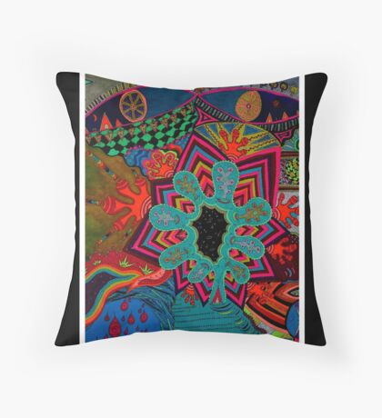 Creativity Black Ligth Throw Pillow