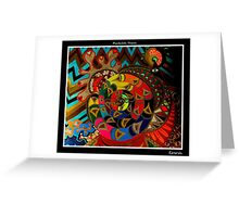 Genesis Black Ligth Greeting Card